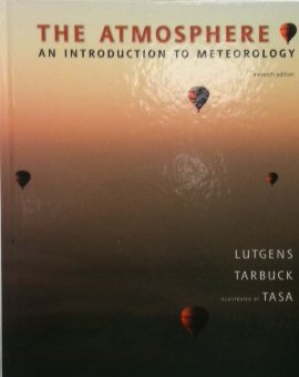 Meteorology book front cover of hot air balloons drifting in the autumn colored sky