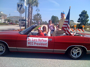 Dr. Hafner at the North Port Parade