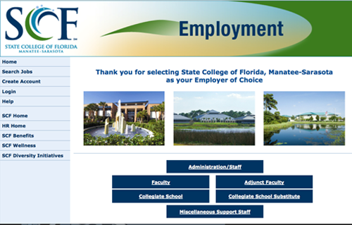 Employment site link