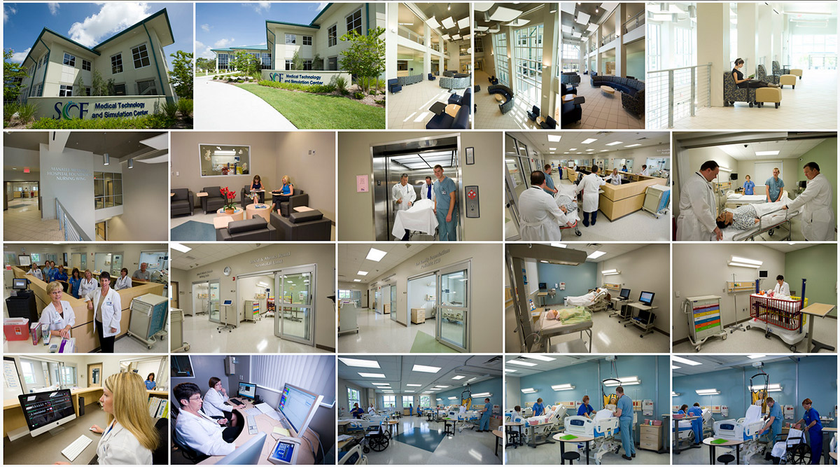 Medical Technology Simulation Center Collage