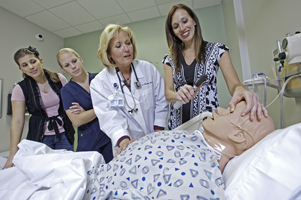 Keri Hocket with Nursing Students
