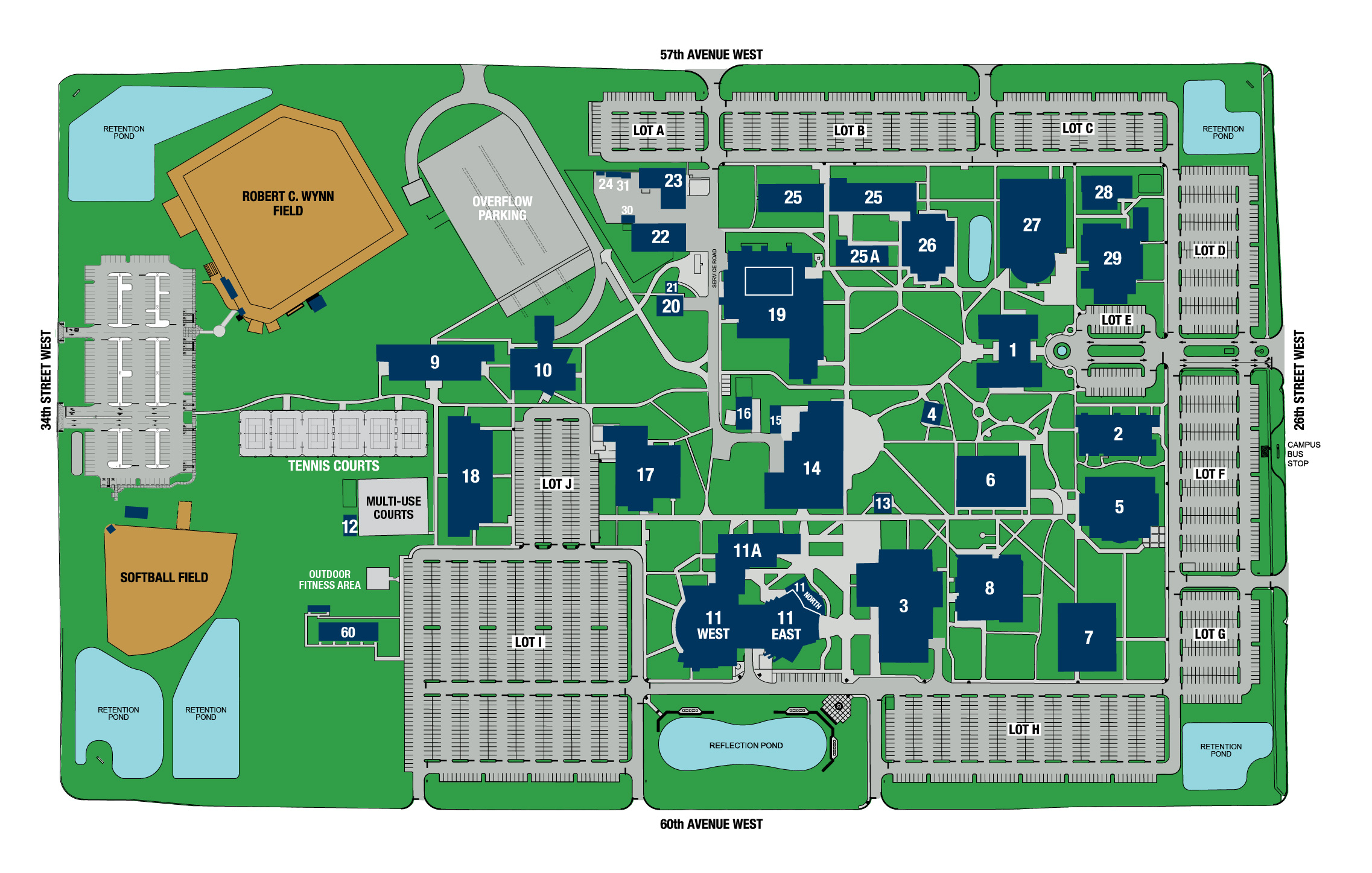 SCF Bradenton Map