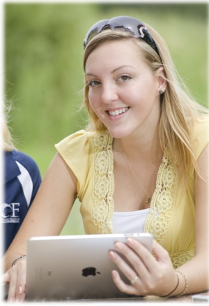Online Student with Laptop