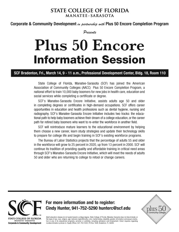 Encore 50 Information Session