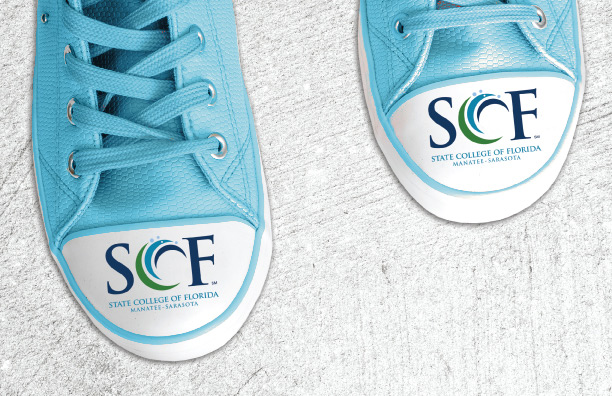 Banner Image - Admission Express Shoes with SCF logo on the toes